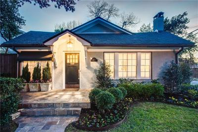 Dallas Single Family Home For Sale: 4439 Vandelia Drive