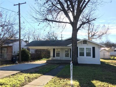 Fort Worth Single Family Home For Sale: 1805 Denver Avenue