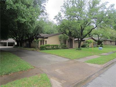 Sherman Single Family Home For Sale: 1619 Crescent Drive