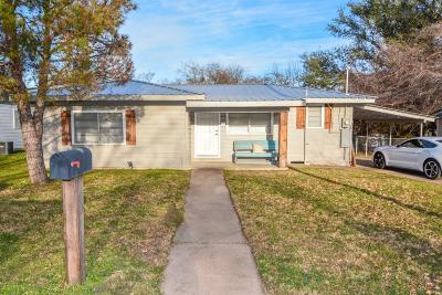 Stephenville TX Single Family Home Active Option Contract: $99,500