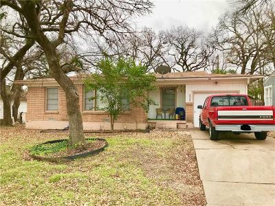 Fort Worth Single Family Home Active Option Contract: 5504 Van Natta Lane