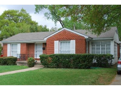 Single Family Home For Sale: 7629 Lovers Lane