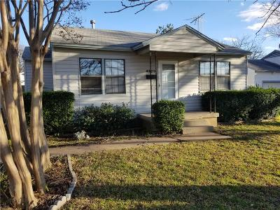 Fort Worth Single Family Home Active Option Contract: 4925 Dilworth Court