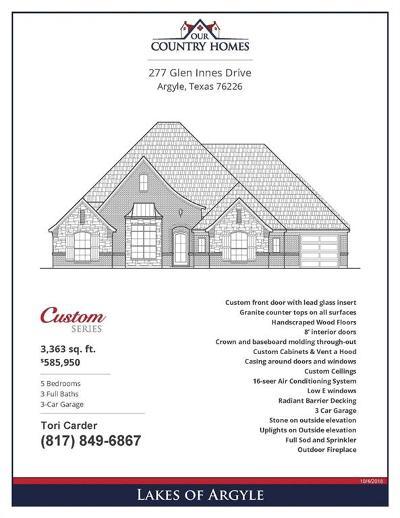 Argyle Single Family Home For Sale: 277 Glen Innes Drive