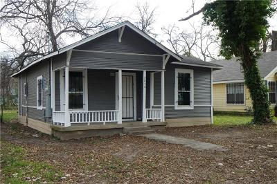 Dallas Single Family Home For Sale: 2634 Carpenter Avenue