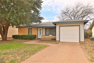 Abilene Single Family Home For Sale: 934 Forrest Avenue