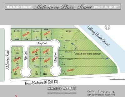Hurst Residential Lots & Land For Sale: 100 Ryder Court