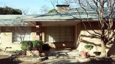 Dallas County Single Family Home For Sale: 4431 Wallnut Hill