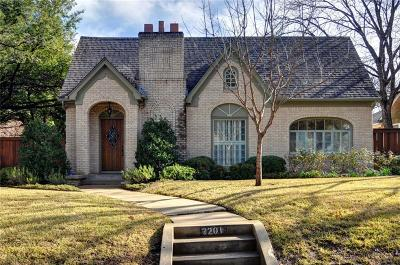 Tarrant County Single Family Home Active Option Contract: 2201 Warner Road