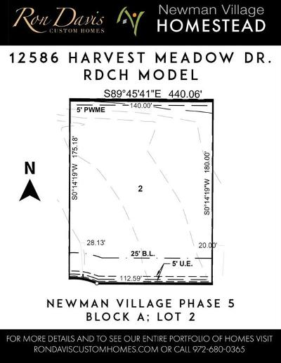 Frisco Residential Lots & Land For Sale: 12586 Harvest Meadow Drive