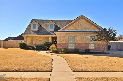 Abilene Single Family Home For Sale: 509 Lone Star Drive