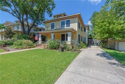 Denton Single Family Home For Sale: 716 W Oak Street