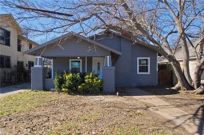 Fort Worth Single Family Home Active Option Contract: 2928 Travis Avenue