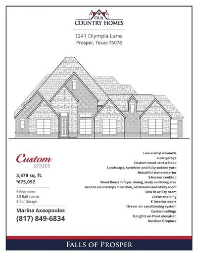 Single Family Home For Sale: 1241 Olympia Lane