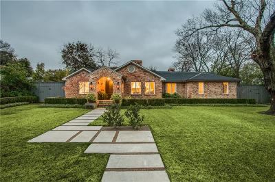 Dallas County Single Family Home For Sale: 5730 Stonegate Road