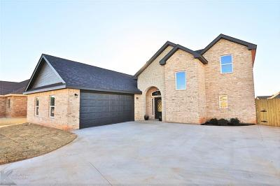 Abilene Single Family Home For Sale: 7026 Pebbles Place