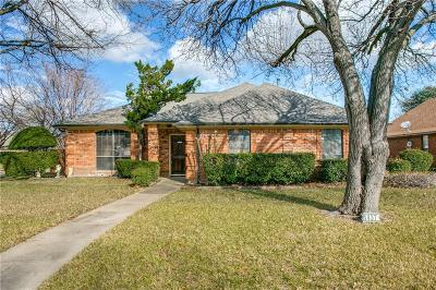 Plano Single Family Home Active Option Contract: 1437 Cumberland Trail