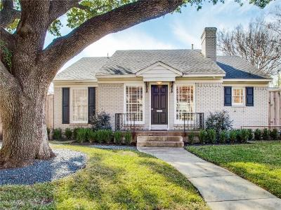 Highland Park Single Family Home For Sale: 4619 Westside Drive