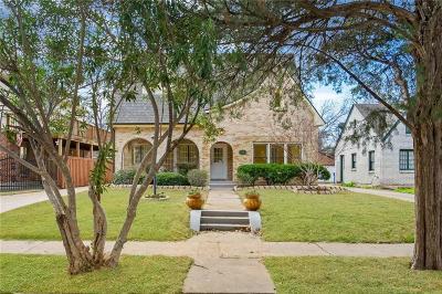 Dallas County Single Family Home For Sale: 5138 Vanderbilt Avenue