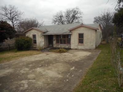 Fort Worth TX Single Family Home For Sale: $45,000