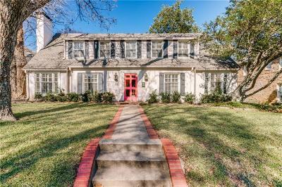 Highland Park Single Family Home For Sale: 4512 Lorraine