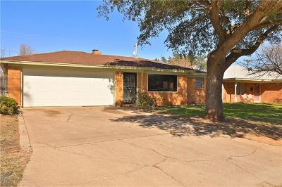 Abilene Single Family Home For Sale: 3410 S 27th Street