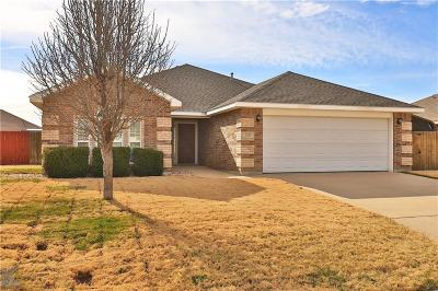 Abilene Single Family Home Active Option Contract: 209 Cotton Candy Road