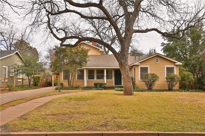 Abilene Single Family Home For Sale: 625 River Side Boulevard