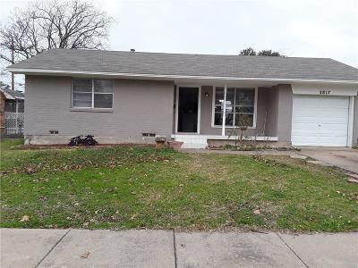 Garland Single Family Home Active Option Contract: 2817 Cumberland Drive
