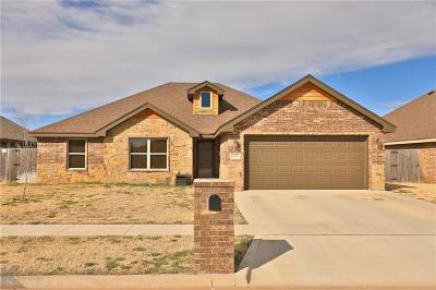 Abilene Single Family Home For Sale: 3410 Firedog Road