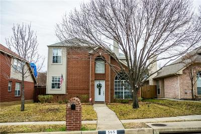 Lewisville Single Family Home Active Option Contract: 565 Continental Drive