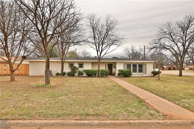 Abilene Single Family Home For Sale: 3325 Green Acres Road
