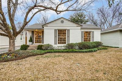 Dallas Single Family Home For Sale: 5723 W Hanover Avenue
