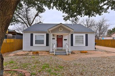 Abilene Single Family Home For Sale: 2926 S 11th Street