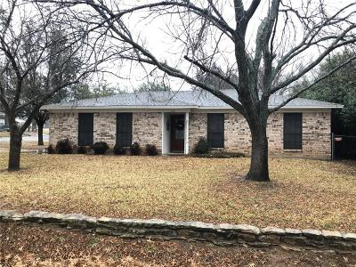 Weatherford Single Family Home Active Option Contract: 106 Hall Street