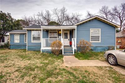 Irving Single Family Home Active Option Contract: 2435 Grove Street