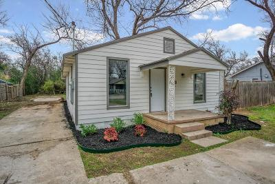 Fort Worth TX Single Family Home For Sale: $119,900