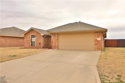 Abilene Single Family Home For Sale: 225 Miss Ellie Lane