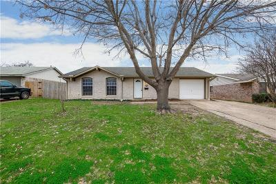 Mesquite Single Family Home Active Option Contract: 521 Starling Drive