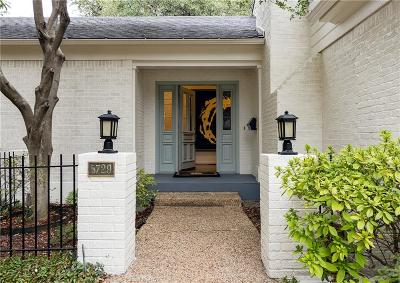 Dallas County Single Family Home For Sale: 5729 Caruth Boulevard