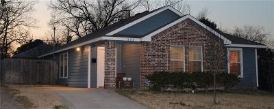 Dallas Single Family Home For Sale: 321 Starr Street