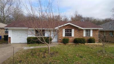 Sherman Single Family Home Active Option Contract: 605 Patricia Drive