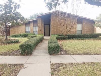 Carrollton Single Family Home For Sale: 2218 Red Bluff Drive