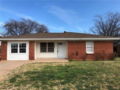 Abilene Single Family Home For Sale: 1367 Mimosa Drive