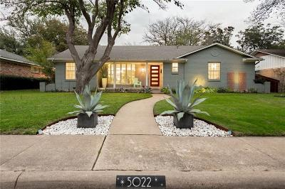 Dallas Single Family Home For Sale: 5022 Menefee Drive
