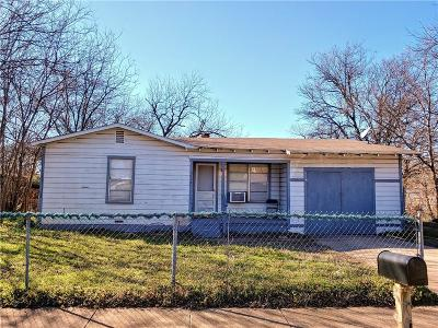 Fort Worth Single Family Home Active Option Contract: 3108 Bright Street