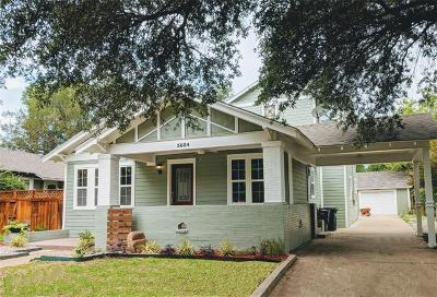 Fort Worth Single Family Home For Sale: 3824 Clarke Avenue