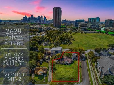 Dallas Residential Lots & Land For Sale: 2629 Calvin Street