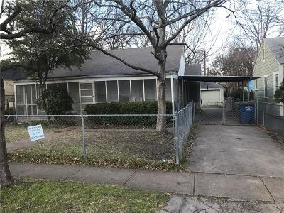 Single Family Home For Sale: 1319 Wilbur Street