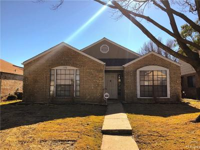 Mesquite Single Family Home For Sale: 1102 Thistle Drive